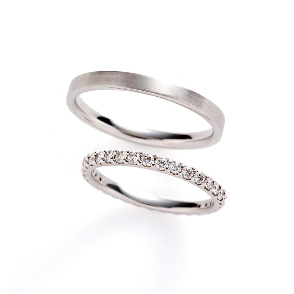 sentiero 結婚指輪 シンプル エレガント ストレート エタニティ プラチナ