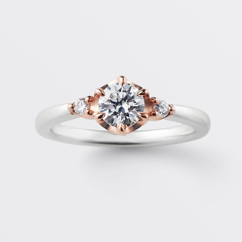 sentir 婚約指輪 シンプル エレガント ストレート プラチナ コンビ