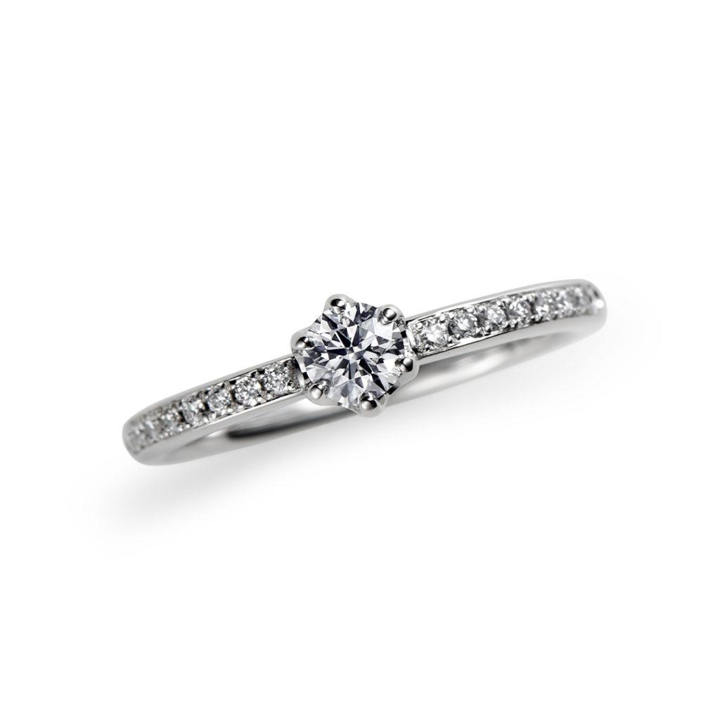 雪月花 婚約指輪 シンプル エレガント ストレート エタニティ プラチナ