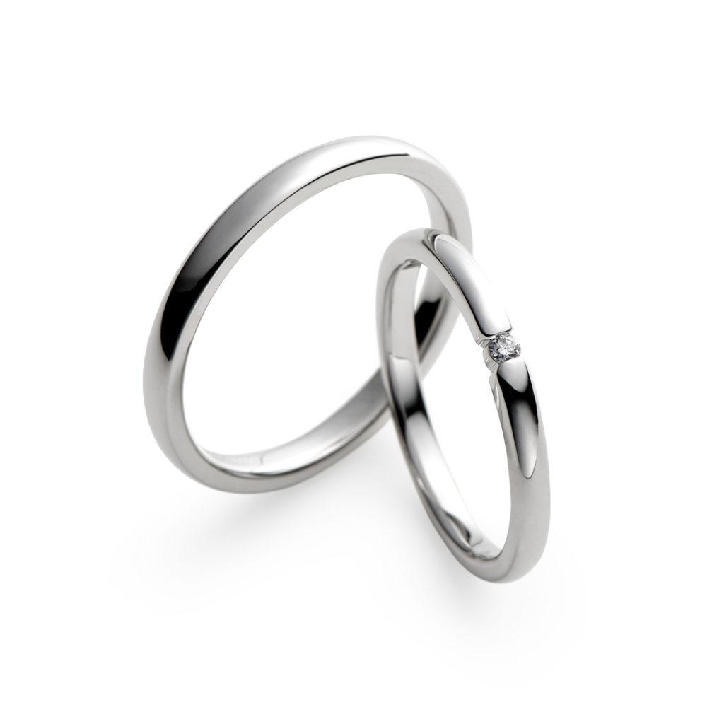 雪月花 結婚指輪 シンプル ストレート プラチナ