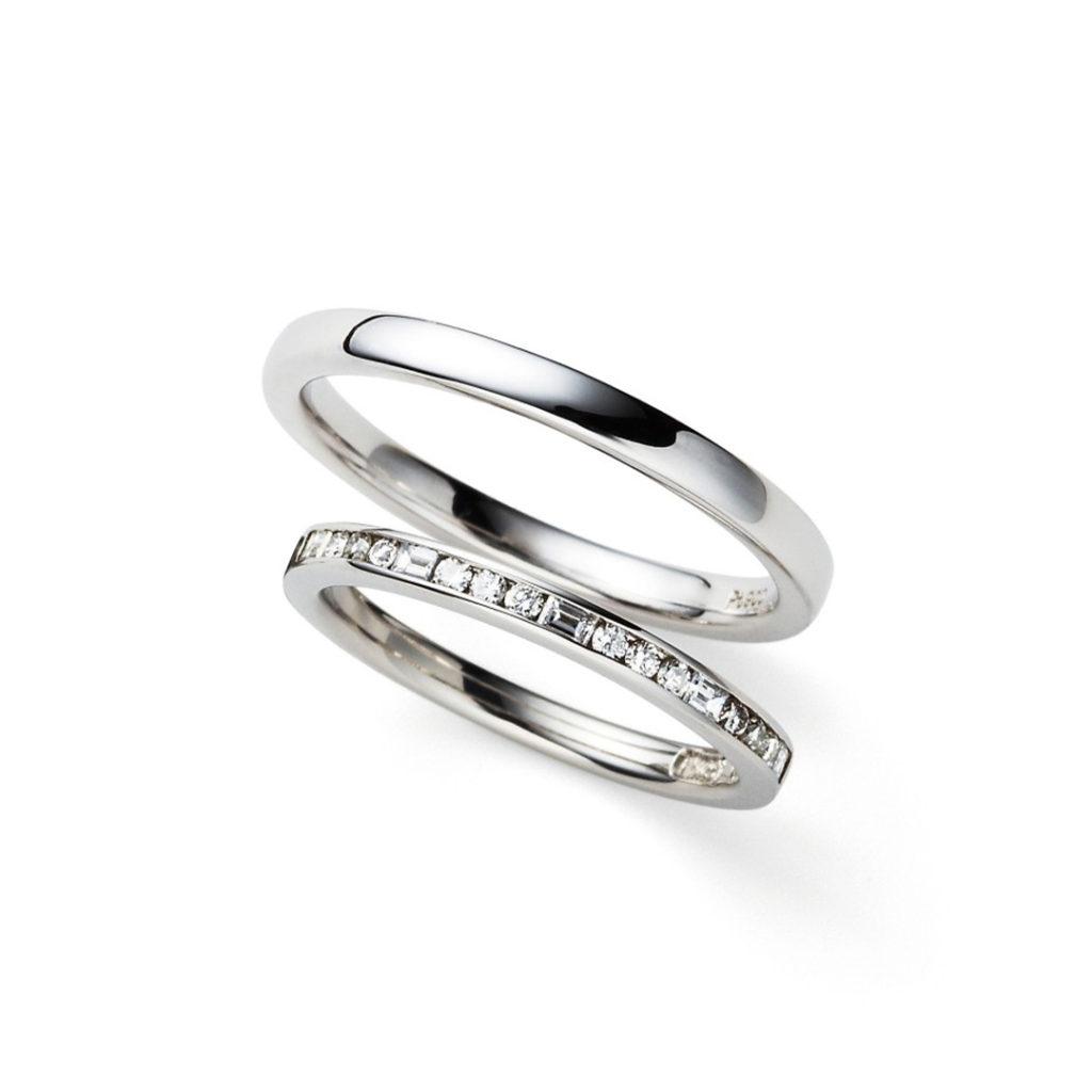 siena 結婚指輪 シンプル エレガント ストレート エタニティ プラチナ