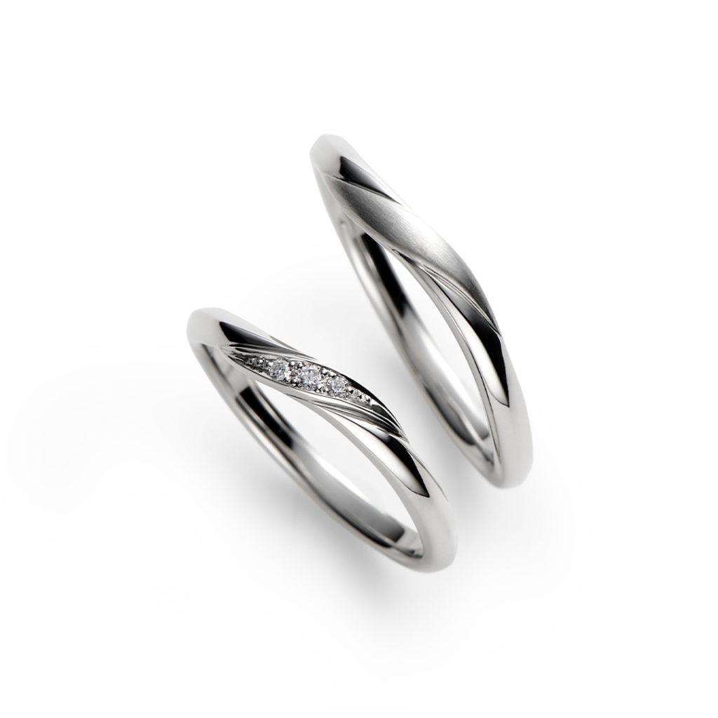 蒼蒼 結婚指輪 シンプル エレガント S字(ウェーブ) プラチナ
