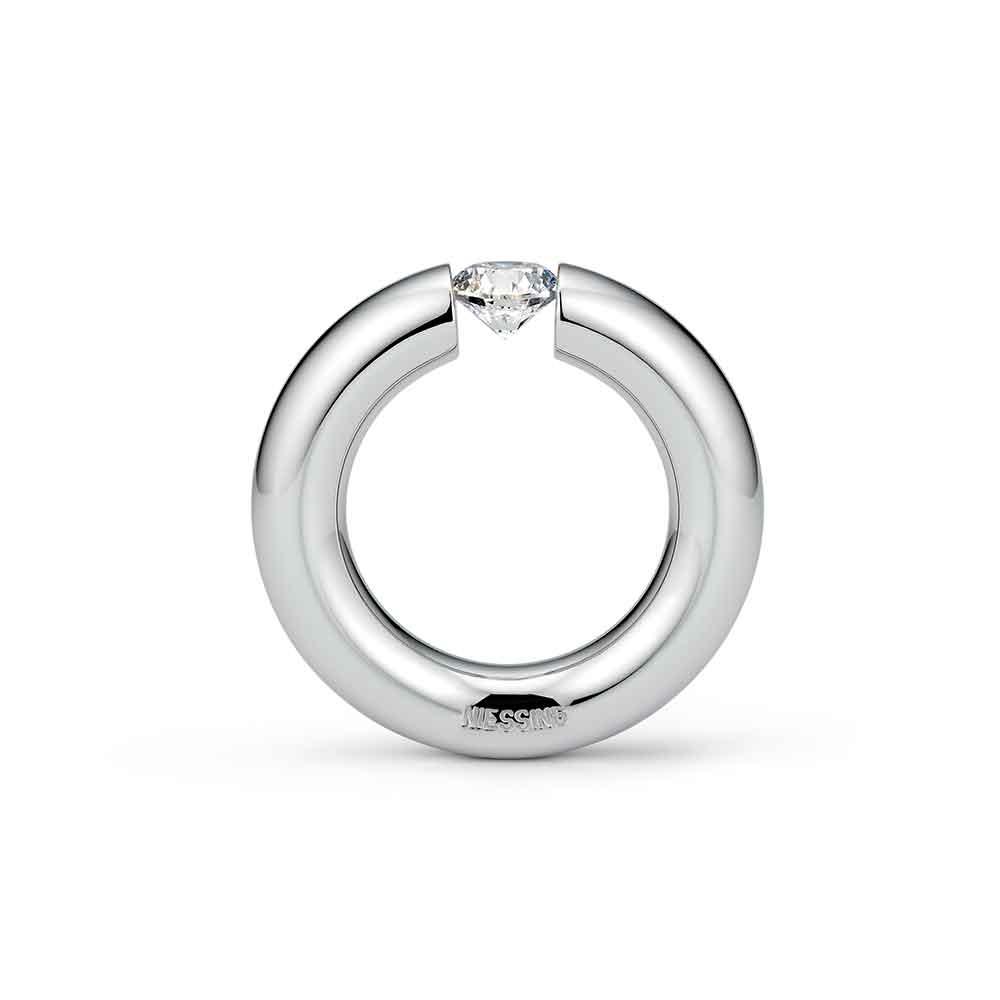 NIESSING SPANNRING®ROUND 婚約指輪 個性派 ストレート プラチナ