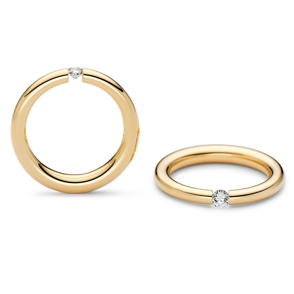 NIESSING SPANNRING® ANTARES  婚約指輪 シンプル ストレート イエローゴールド