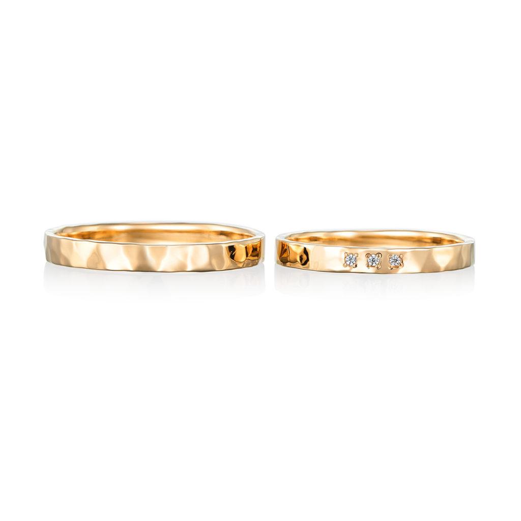 sympa 結婚指輪 アンティーク 個性派 ストレート イエローゴールド