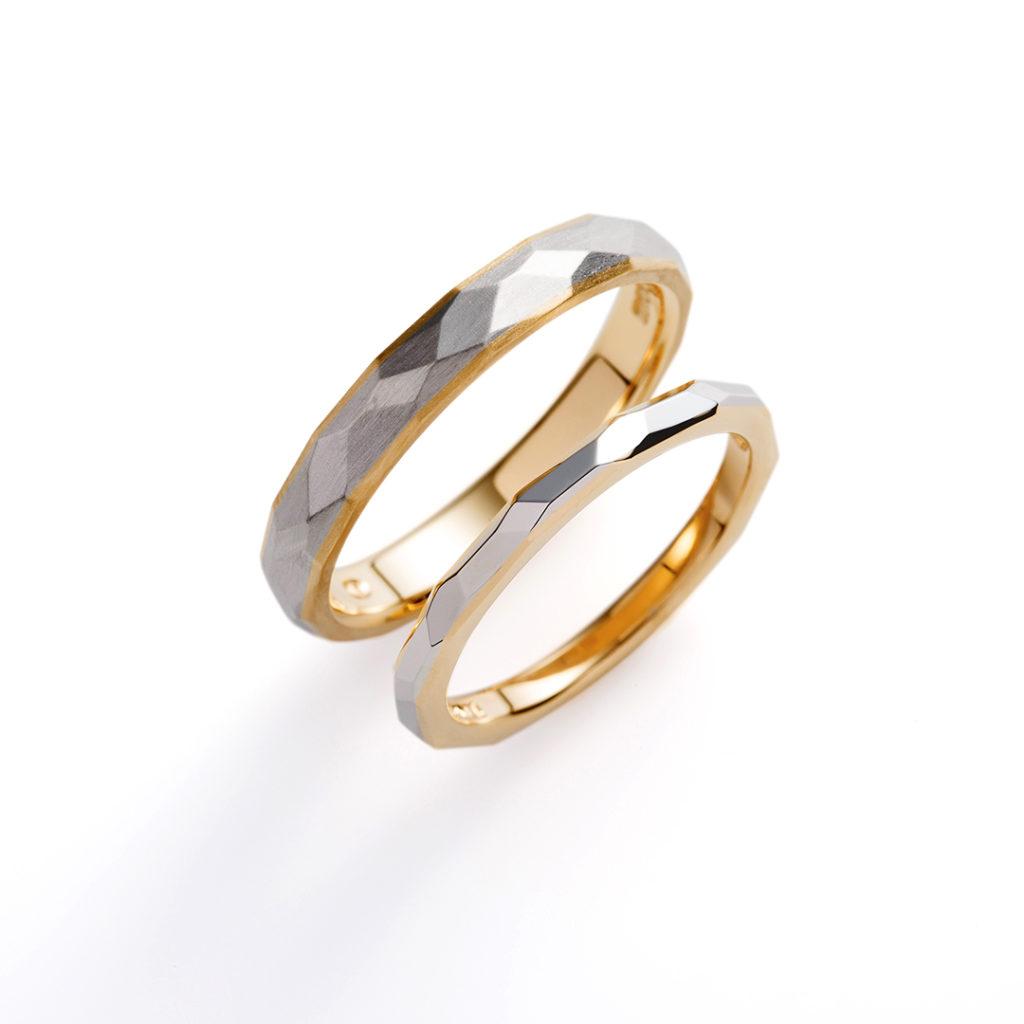 terra 結婚指輪 アンティーク ストレート コンビ