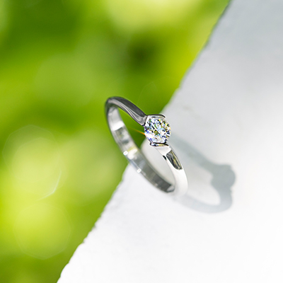 TILLEUL 婚約指輪 シンプル ストレート ジルコニウム