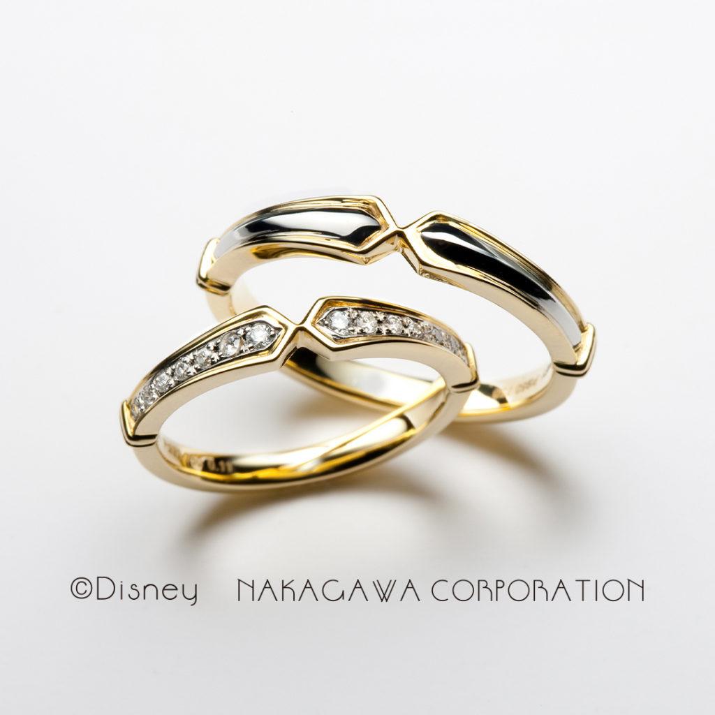 true sword 結婚指輪 エレガント 個性派 ストレート プラチナ イエローゴールド コンビ