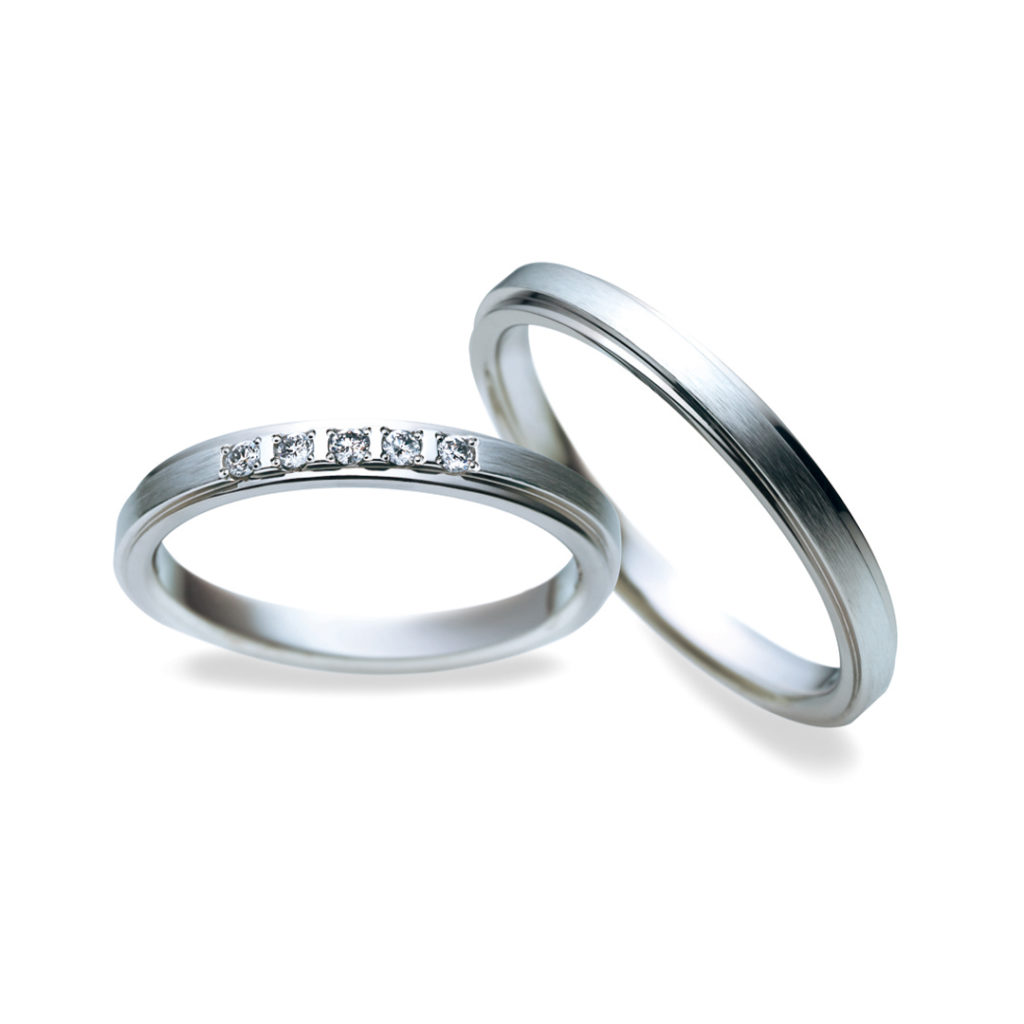 _ 結婚指輪 シンプル ストレート プラチナ