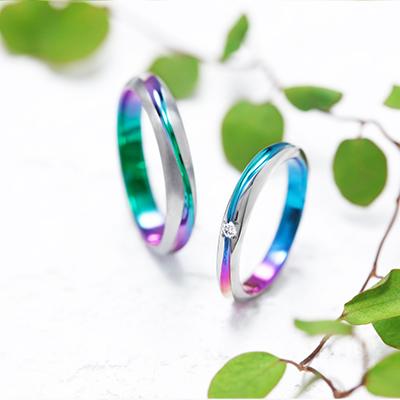 CREEK 結婚指輪 シンプル 個性派 ストレート ジルコニウム