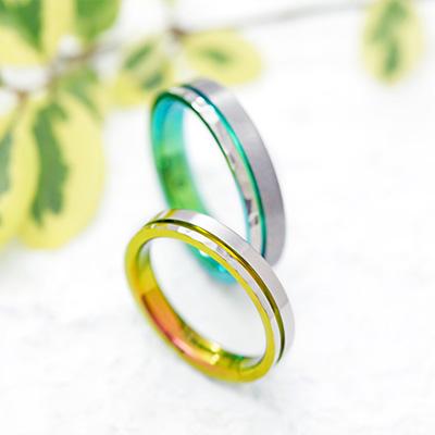 HORIZON 結婚指輪 シンプル 個性派 ストレート ジルコニウム