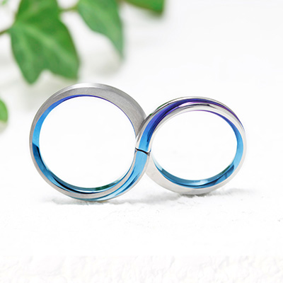 LEMNISCATE 結婚指輪 個性派 S字(ウェーブ) ジルコニウム