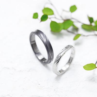 MURMUR 結婚指輪 シンプル 個性派 ストレート プラチナ タンタル