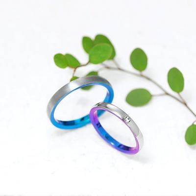 NUVOLA  結婚指輪 シンプル ストレート ジルコニウム