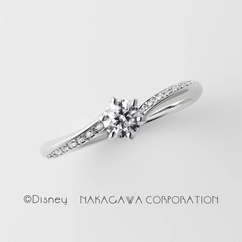 waltz 婚約指輪 シンプル エレガント S字(ウェーブ) プラチナ