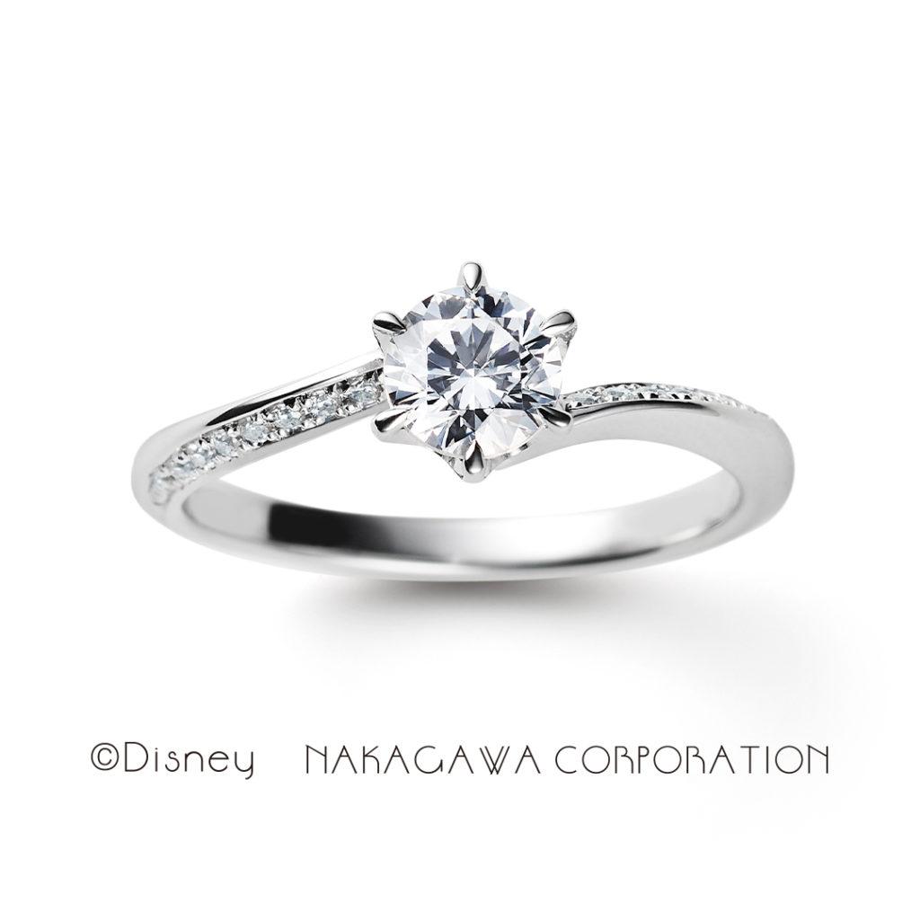 waltz 婚約指輪 エレガント S字(ウェーブ) プラチナ