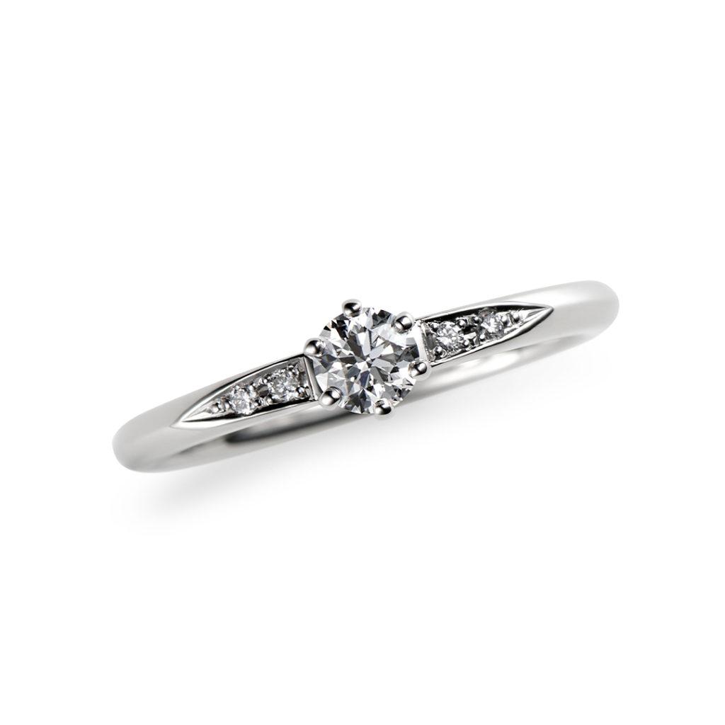 雪見 婚約指輪 シンプル エレガント ストレート プラチナ