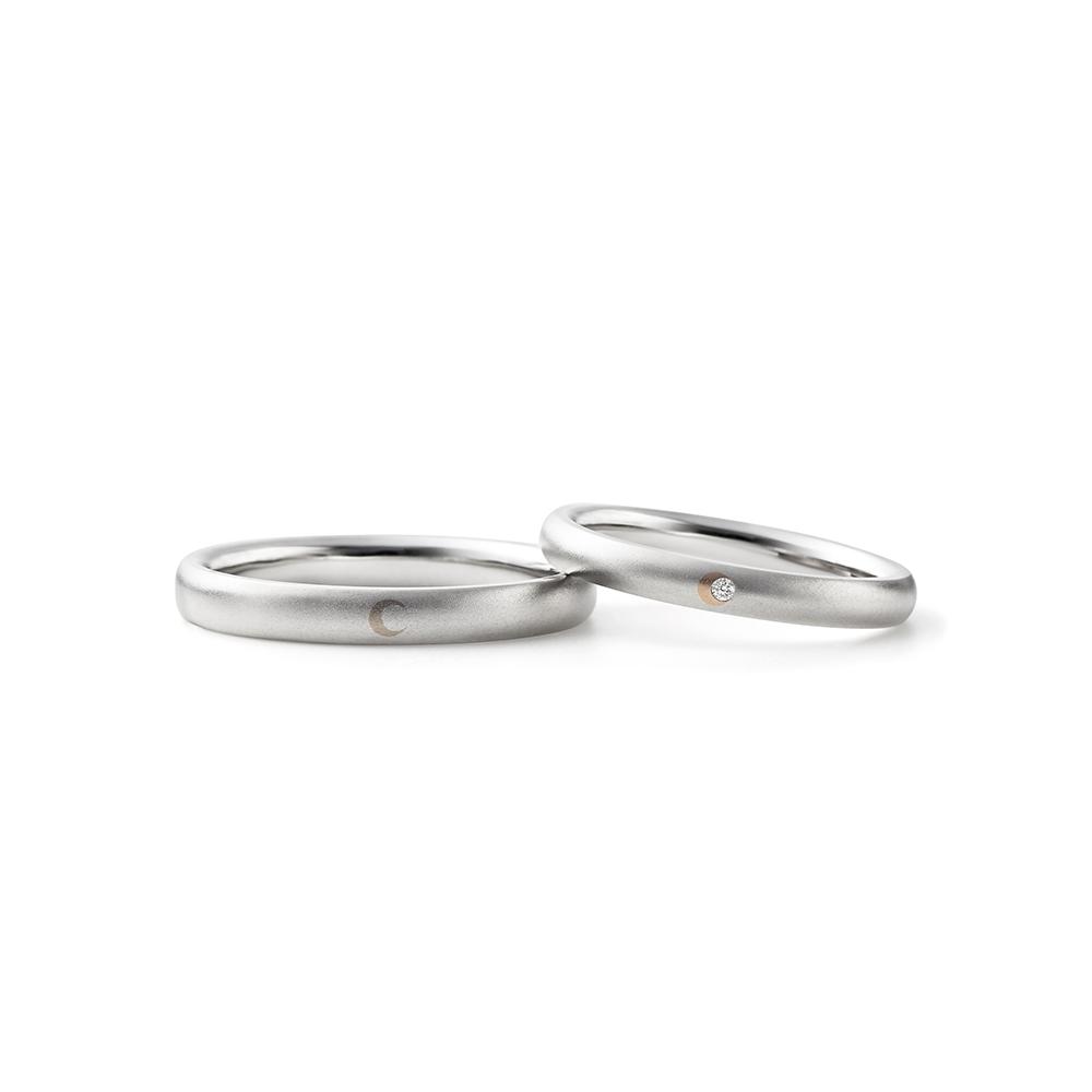 YUMIZUKI 結婚指輪 シンプル 個性派 ストレート プラチナ コンビ